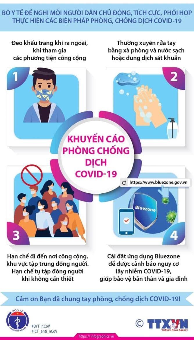 Khuyến cáo phòng, chống dịch Covid-19
